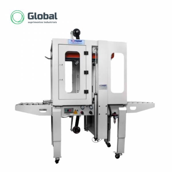 Máquina Semiautomática para Fita Adesiva com Tração Superior e Inferior CM553RL