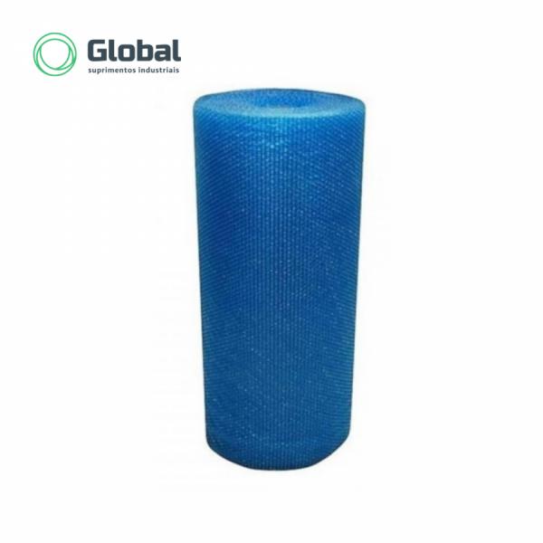Plástico Bolha Reciclado Azul 1200mm (80 micras)